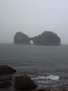 白浜は今日も雨だった