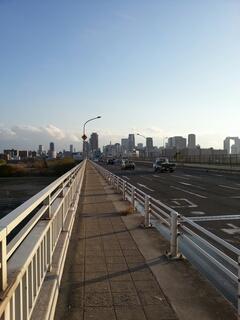 淀川にかかる