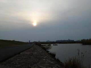 赤川鉄橋を臨む